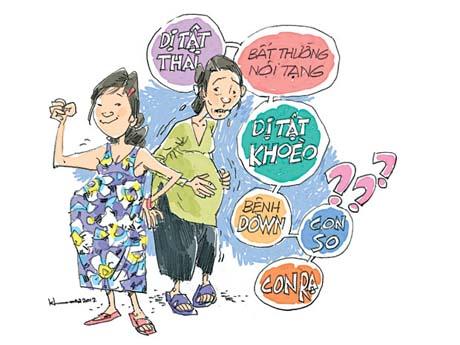 Mang thai khi tuổi cao con dễ bị dị ứng